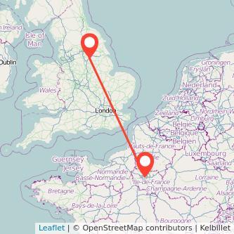 Doncaster Paris train map