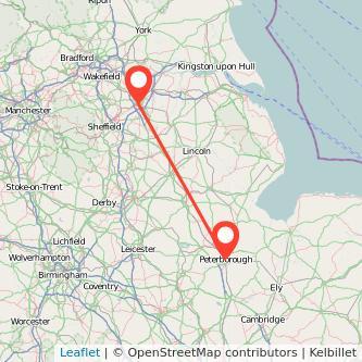 Doncaster Peterborough train map
