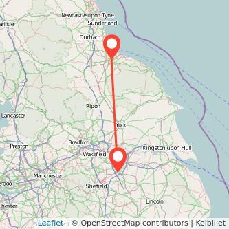 Doncaster Middlesbrough train map