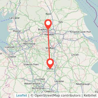 Derby Leeds bus map