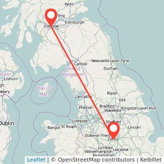 Derby Glasgow bus map