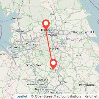 Derby Bradford train map