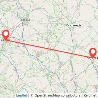 Coventry Cambridge bus map
