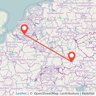 Brussels Munich train map