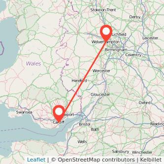 Cardiff Wolverhampton train map