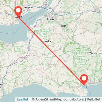 Cardiff Poole train map