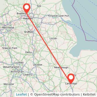 Cambridge Leeds train map