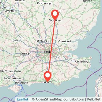 Cambridge Brighton bus map
