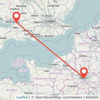 Bristol Paris bus map