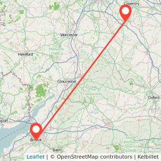 Bristol Warwick train map