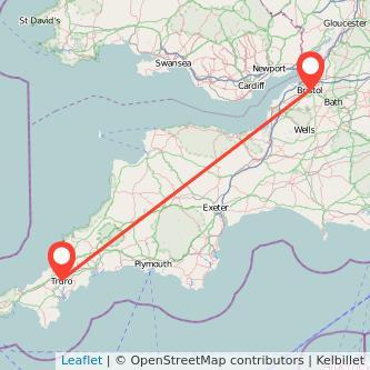 Bristol Truro train map
