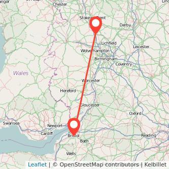 Bristol Stafford train map
