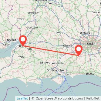 Bristol Guildford bus map