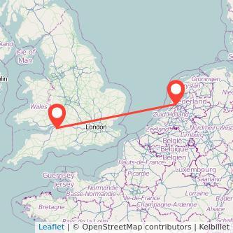 Bristol Amsterdam train map
