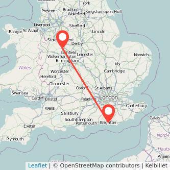 Brighton Stafford train map