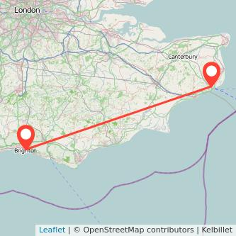 Brighton Dover bus map