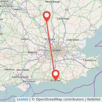 Brighton Bedford train map