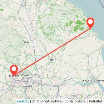 Bradford Scarborough bus map
