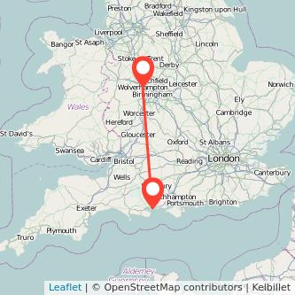 Bournemouth Wolverhampton train map