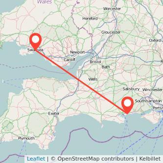 Bournemouth Swansea train map