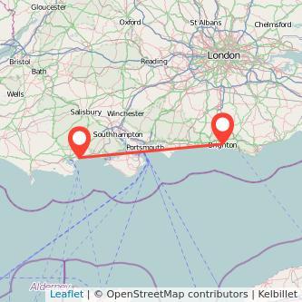 Bournemouth Brighton train map