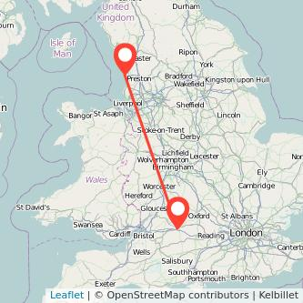 Blackpool Swindon train map