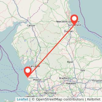 Blackpool Sunderland train map