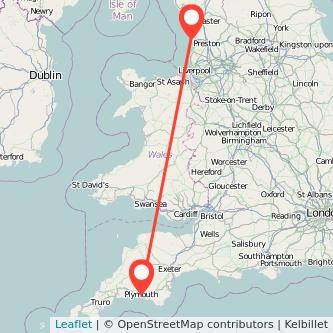 Blackpool Plymouth train map