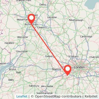 Birmingham Woking train map