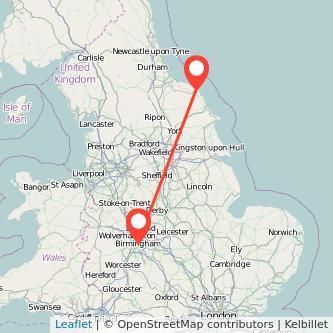 Birmingham Whitby train map