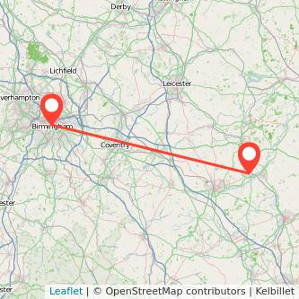 Birmingham Wellingborough train map