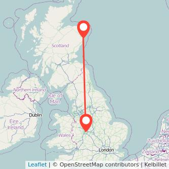 Birmingham Aberdeen train map