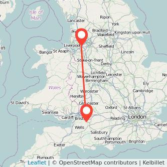 Bath Warrington train map