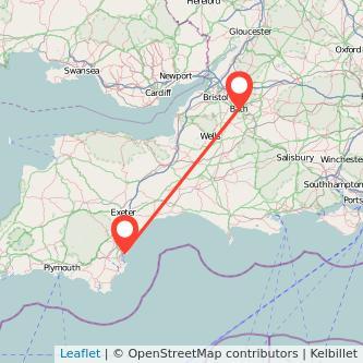 Bath Torquay train map