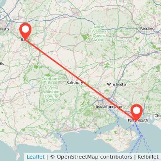 Bath Portsmouth train map
