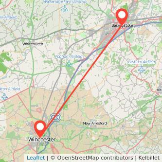 Basingstoke Winchester train map