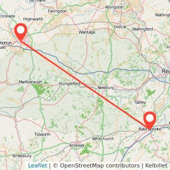 Basingstoke Swindon train map