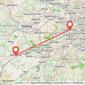 Basingstoke Staines train map