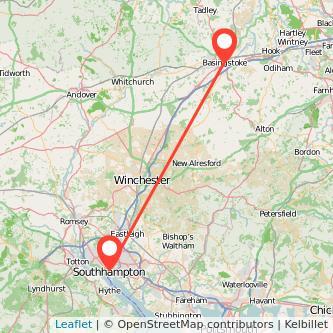 Basingstoke Southampton train map