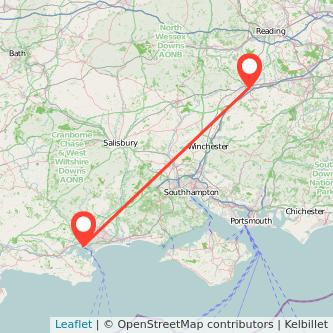 Basingstoke Poole train map