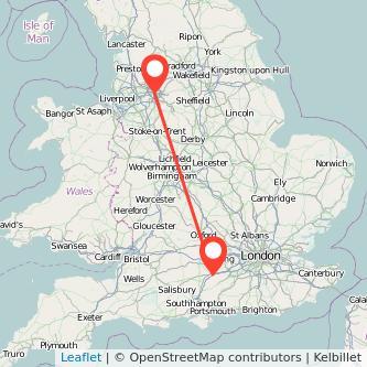 Basingstoke Manchester train map