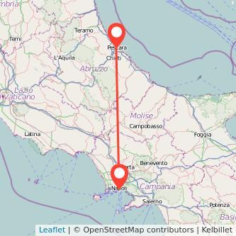 Mappa dei viaggio Pescara Napoli pullman