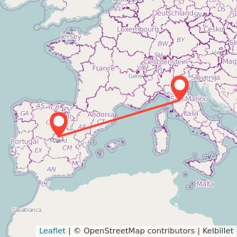 Florence Madrid train map