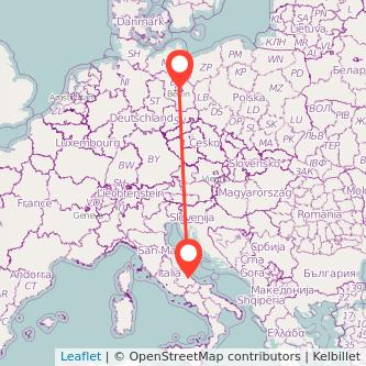 Mappa dei viaggio Chieti Berlino pullman