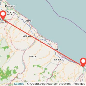 Mappa dei viaggio Chieti Termoli pullman