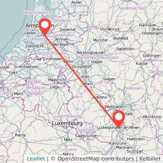 Utrecht Ludwigshafen Bus Karte