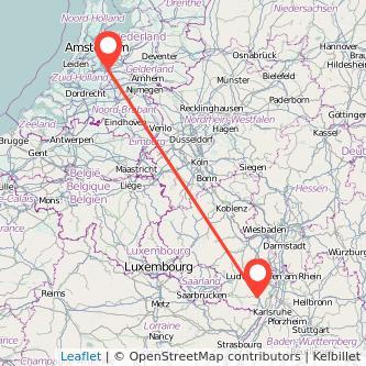 Utrecht Landau in der Pfalz Bus Karte