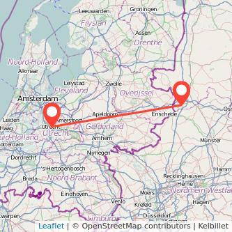 Utrecht Bad Bentheim Bus Karte