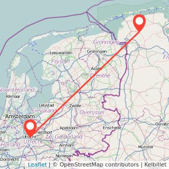 Utrecht Aurich Bus Karte