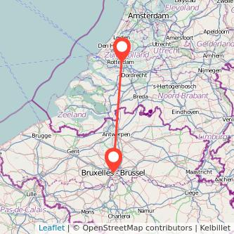 Rotterdam Brussels bus map